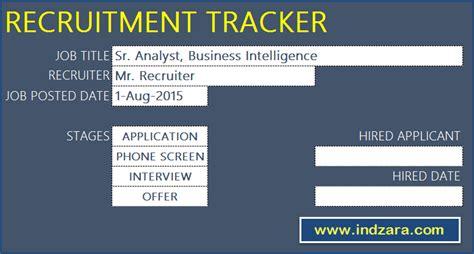 recruitment tracker spreadsheet  hr excel template