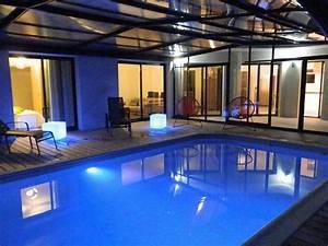 doelan villa 12 p piscine couverte et chauffee With location maison avec piscine pays basque