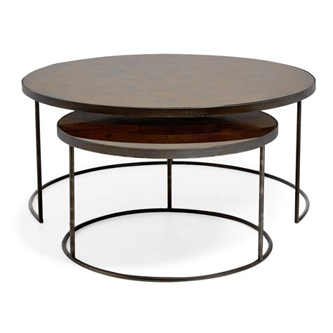 Furniture West Elm Accent Table Round Nesting Tables