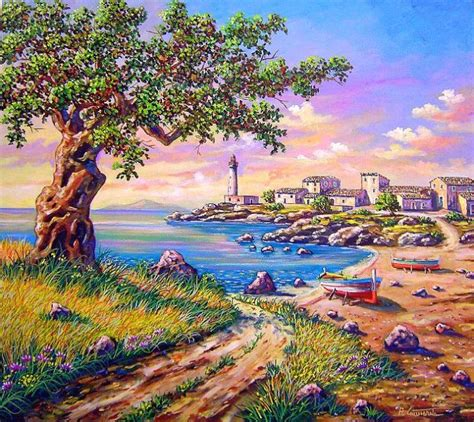 dipinti paesaggi  mare je regardsdefemmes