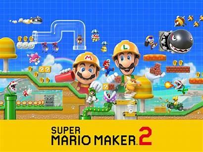 Mario Maker Super Toad Goomba Background 8k