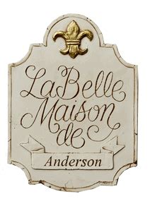 French Welcome Personalized Plaque|French House signs ...