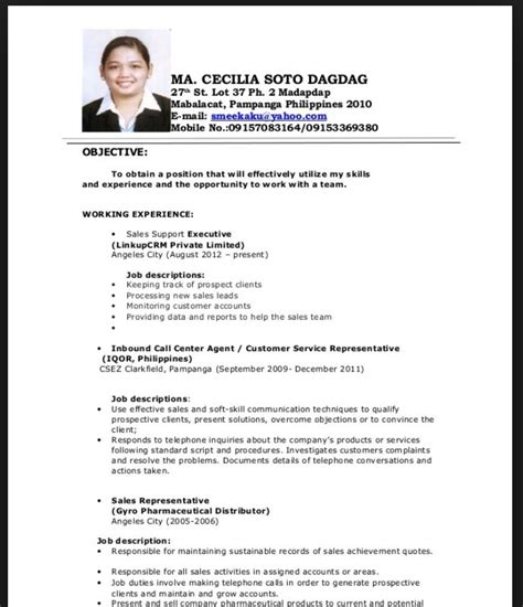 Chronological Resume Fresh Graduate by Resume Sle For Fresh Graduate Mastah Resume