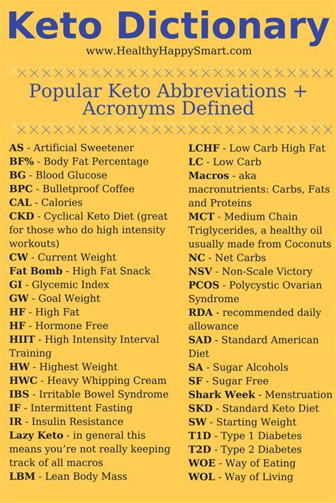 keto  dummies guide keto glossary healthyhappysmart