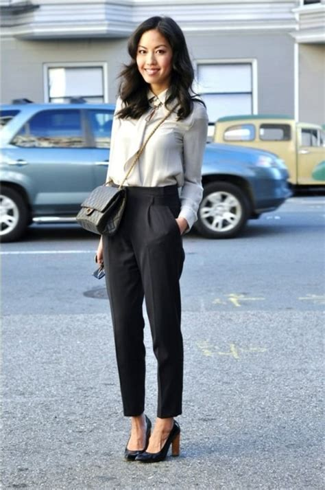 Office Looks Black Trousers Styles For Ladies 2018 | FashionGum.com
