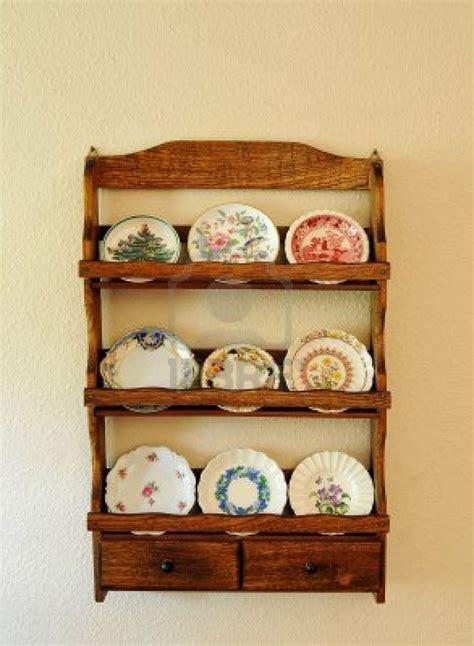 antique miniature butter pat plates    wooden shelf hanging wooden plate rack wooden