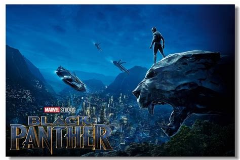 custom canvas paintings black panther poster black panther