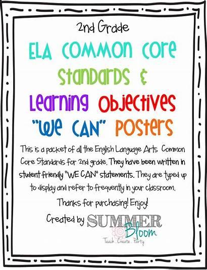 Grade 2nd Language Arts English Standards Common