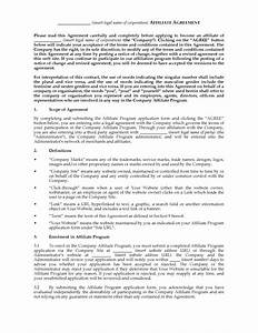 australia website affiliate agreement legal forms and With affiliate contract template