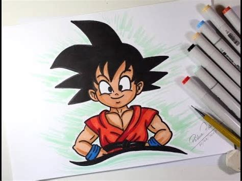 como desenhar  goku crianca de dragon ball muito facil youtube