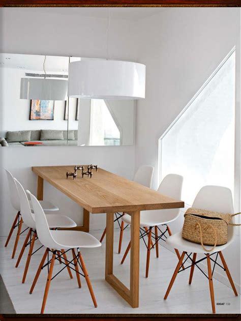 salle 224 manger et table en bois sur mesure chaises esprit scandinave d 233 co id 233 es pour la