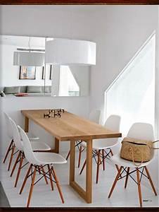 salle a manger et table en bois sur mesure chaises esprit With table salle a manger scandinave