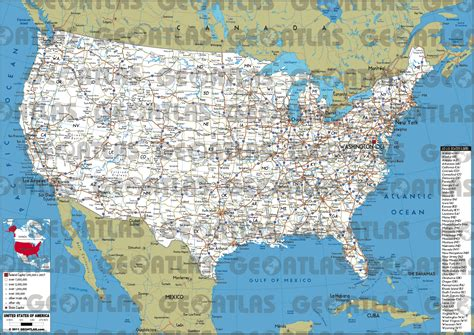 eastern united states road map  travel information