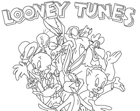 lively show  looney tunes colouring pages picolour