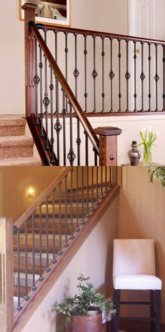 interior railings home depot kinsmen homes intricate wrought iron stair railing with wood stair tread and white painted