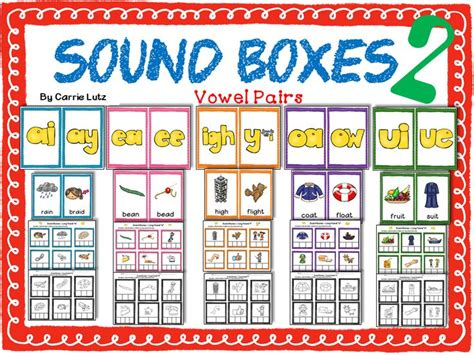 sound boxes 2 vowel pairs for reading and spelling