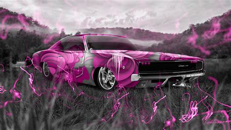 dodge charger srt retro crystal nature car  wallpapers
