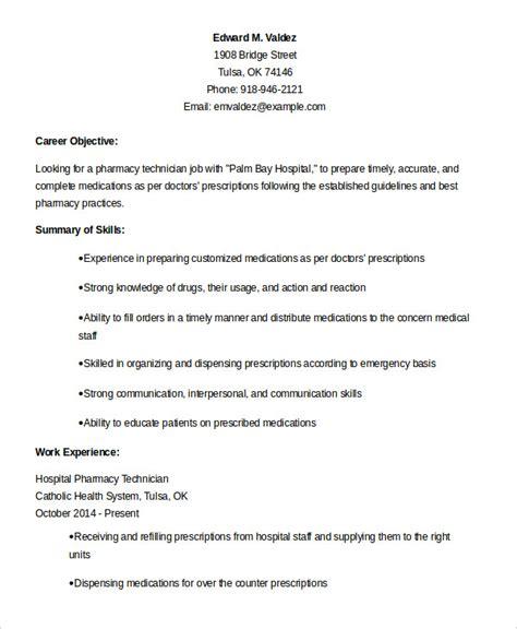 10+ Pharmacy Technician Resume Templates  Pdf, Doc Free