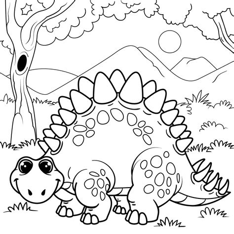 dinosaur coloring pages  kids android iphone ipad