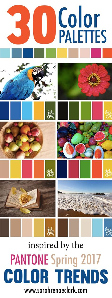 30 color palettes inspired by the pantone spring 2017