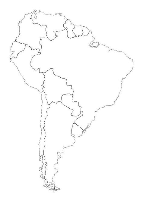 coloring page south america  printable coloring pages