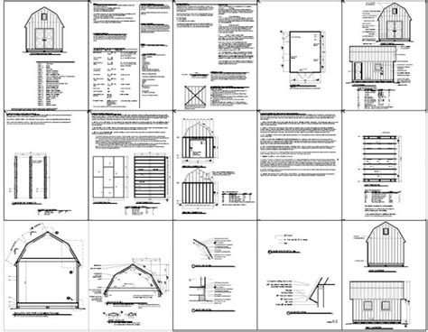 12x16 Gambrel Storage Shed Plans Free by Kelana Plans For 16x20 Shed