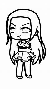 Coloring Gacha Pages Character Anime Gatcha Edits Theseacroft Angry Edition sketch template