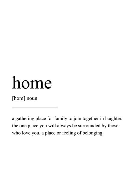 Home Design Definition by Home Definition Print Wall Print Quote Print