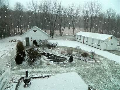 Winter Garden Cottage Snow English Yard Dusting
