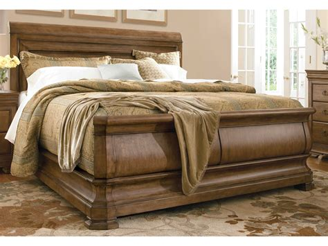 wood console table universal furniture lou cognac king size sleigh bed