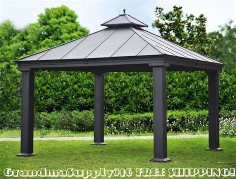 new outdoor metal hardtop gazebo 12 x 12 x 12 canopy patio grill pergola kits gardens