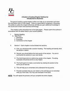 A Guide To Creating Chapter Outlines For Introduction To