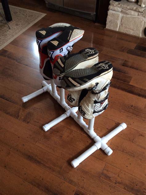 easy  build portable diy pvc boot drying rack dirt