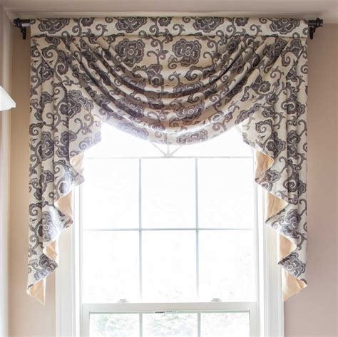 Gray Valance by Sale Swag Curtains And Valances Window Treatments