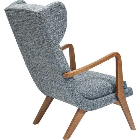 fauteuil a oreilles scandinave gris bleu silence mottle