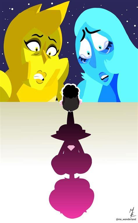 yellow blue  pink diamond  mewonderland steven