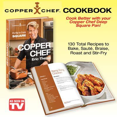 copper chef square pan cookbook  collections