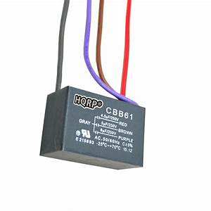 Hqrp Capacitor For Harbor Breeze Ceiling Fan 4 5uf 5uf 6uf