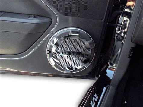 ford mustang  gt speaker grille kit polished