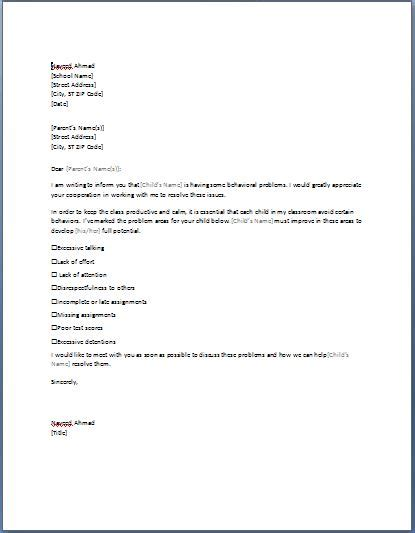 letters to parents from teachers templates sle letter to parents requesting parent conference formal word templates