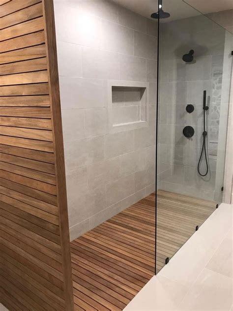 elegant teak shower floor teak shower teak bathroom