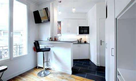 cuisine dans studio optimisation studio 17 m2 buttes chaumont agence avous