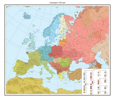map of modern europe modern linguistic map of europe 2804 x 2439 mapporn