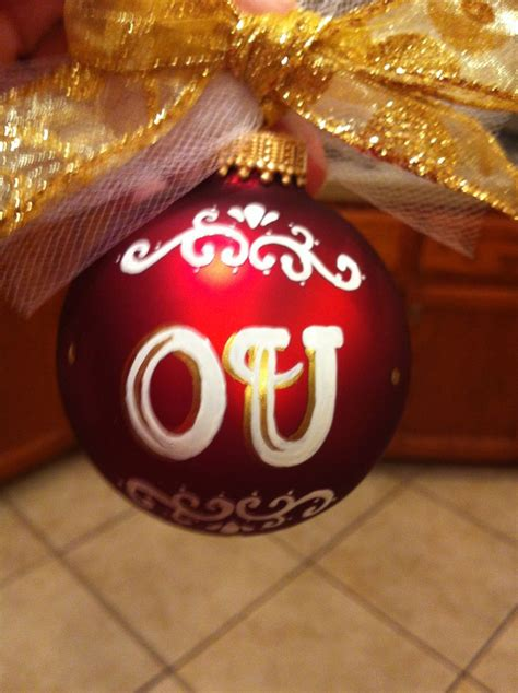 17 best images about ou ornaments on pinterest football