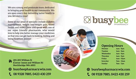 Pharmacy Brochure Template Free by Playful Pharmacy Flyer Design For A Company By