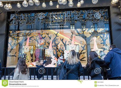 decoration de noel carrefour the showcase in department store le bon marche editorial stock image image 63012959