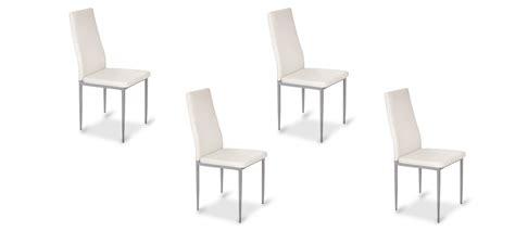 lot de 4 chaises blanches lot de 4 chaises de salle à manger blanches lena