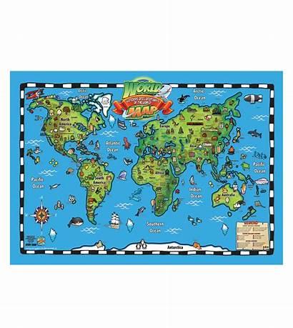Landmarks Map Wonders 3d Toy Toys