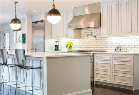 light gray painted kitchen cabinets transitional