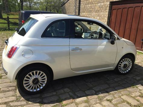 Fiat 500 White by Stunning Pearlescent White Fiat 500 Lounge 2011 In Bury